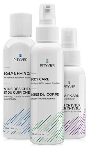 zestaw do leczenia łupieżu pstrego - szampon, emulsja, płyn